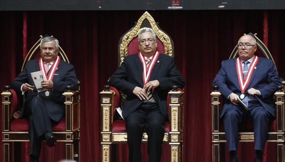 José Luis Lecaros expresó su respaldo a demandas salariales de los jueces. (Foto: César Campos / GEC)