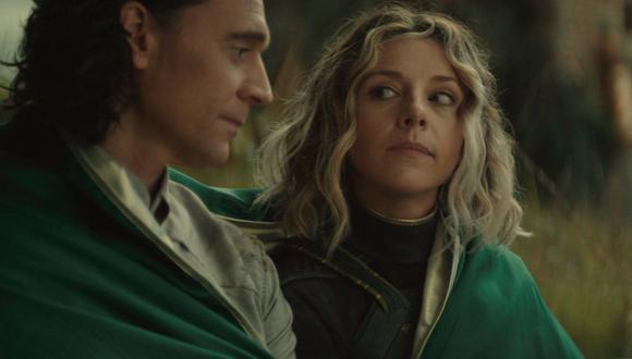 Loki (Tom Hiddleston) y Sylvie (Sophia Di Martino) en una escena fundamental de la serie. Foto: Disney+/ Marvel Studios.