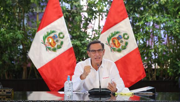 El presidente Martín Vizcarra explicó los motivos por los cuales el Gobierno no promulgó Ley de Protección Policial (Foto: Presidencia de la República)