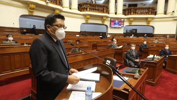 El presidente del Consejo de Ministros, Vicente Zeballos, reiteró la defensa de las reformas política y judicial. (Foto: Congreso)
