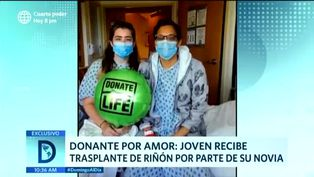 Joven recibe trasplante de riñón por parte de su pareja