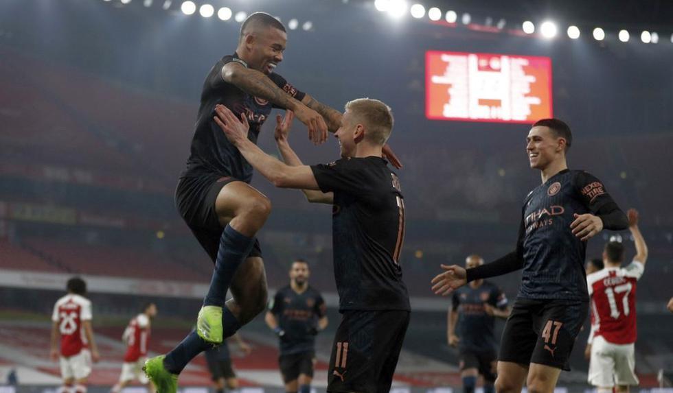Arsenal vs Manchester City: las imágenes del partido de cuartos de final por la Liga de la Copa inglesa. (Foto: AFP)