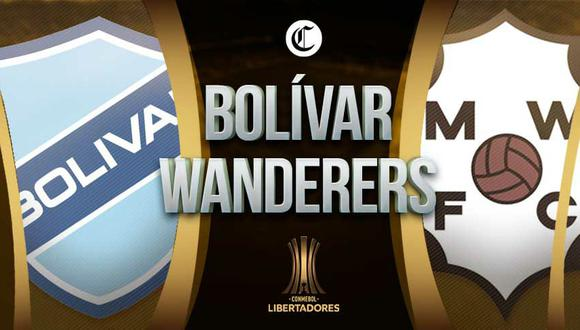 Bolívar vs. Wanderers se miden en la vuelta de la Fase 2 de la Copa Libertadores 2021.   Diseño: EC