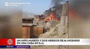 SJL: un menor fallecido y dos heridos tras incendio en vivienda