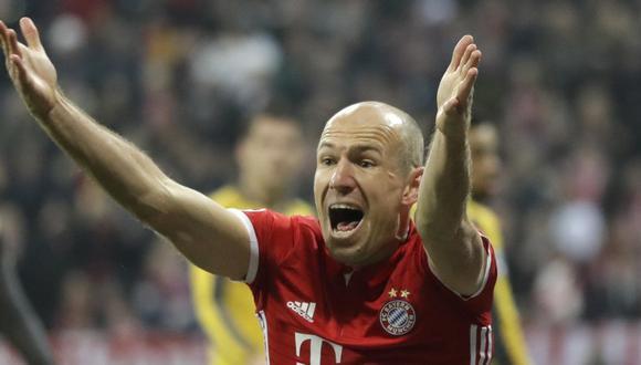 Arjen Robben ganó una Champions League con el Bayern Múnich. (Foto: AP)