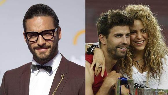 Maluma y el día que conoció a Gerard Piqué, pareja de Shakira. (Fotos: Agencia)