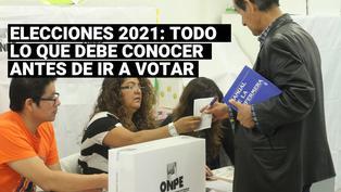 Elecciones 2021: conoce lo que debe saber antes de ir a votar este 11 de abril