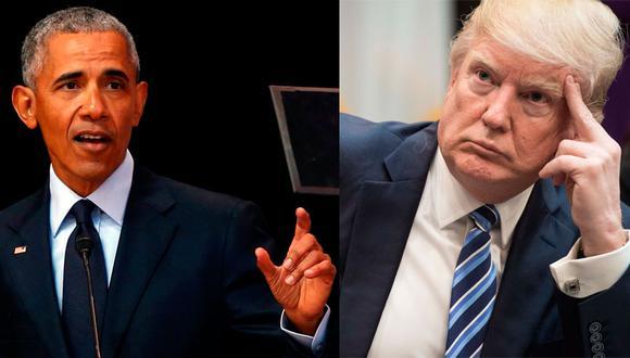 El presidente estadounidense, Donald Trump, comparó el muro que pretende levantar en la frontera con México con la protección de la casa Barack Obama tiene en Washington D.C. (AFP / Reuters)
