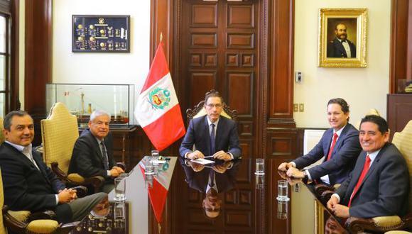 La reunión entre Martín Vizcarra y Daniel Salaverry se dio ante el próximo debate sobre el presupuesto 2019. (Foto: Presidencia)
