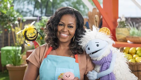 Michelle Obama y sus amigos Waffles y Mochi emprenderán una aventura culinaria. (Foto: Netflix)