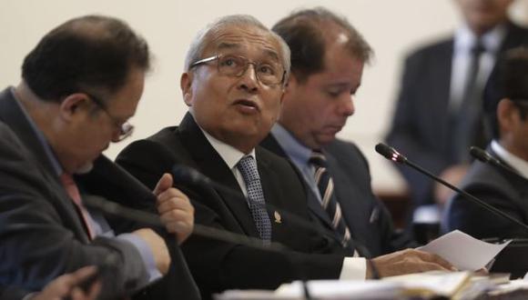 Pedro Chávarry en la Subcomisión de Acusaciones Constitucionales. (Foto: Renzo Salazar / GEC)
