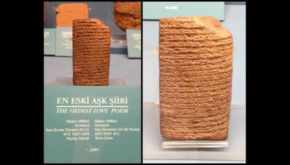 El poema de amor más antiguo del mundo fue escrito hace 4 mil años y esto dicen sus versos