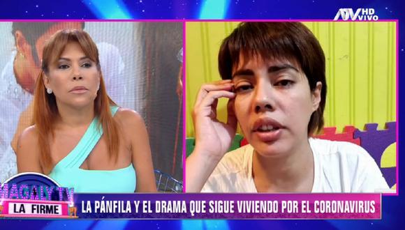 "Personal del Ministerio de Salud atendió al padre de ""La Pánfila"". (Foto: Captura ATV)"