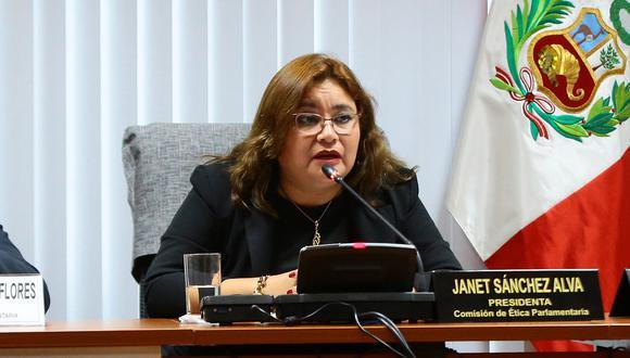 La congresista de Peruanos por el Kambio Janet Sánchezdestacó la importancia de sacar adelante todos los casos acumulados en la Comisión de Ética. (Foto: Congreso)