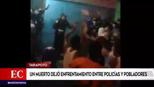 Tarapoto: un muerto dejó enfrentamiento entre pobladores y policías