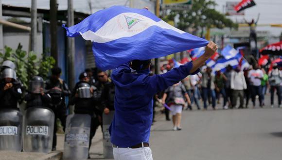 Las protestas contra Ortega y su esposa, la vicepresidenta Rosario Murillo, iniciaron el 18 de abril por unas fallidas reformas de la seguridad social. | Foto: AFP / Referencial
