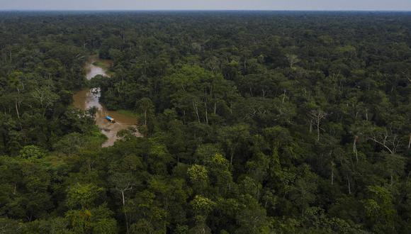Vista aérea del río Moa en el Parque Nacional Serra do Divisor, en Acre. Foto: ©Lalo de Almeida / Folhapress.