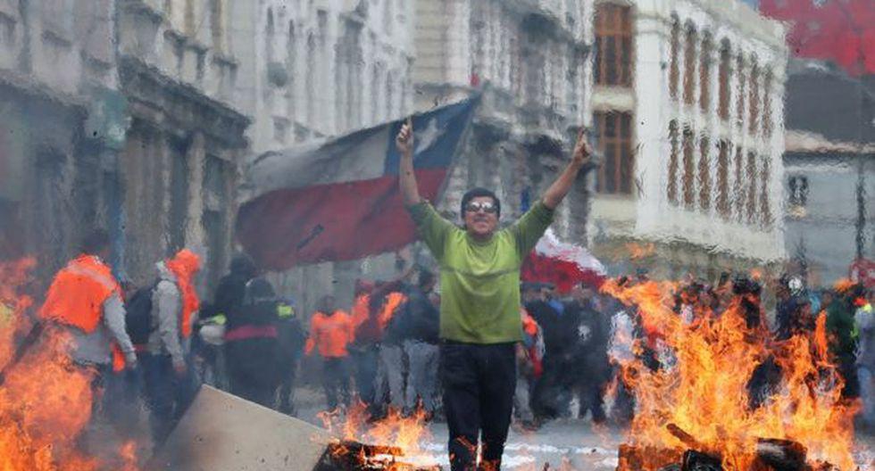 La pintoresca Valparaíso también ha sido escenario de protestas. (Reuters).