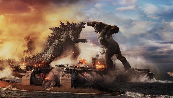 """""""Godzilla vs Kong"""", el nuevo capítulo del Monsterverse, enfrenta a dos de los más grandes íconos de la historia del cine: el temible Godzilla y el poderoso Kong, con la humanidad atrapada en medio de la pelea (Foto: Warner Bros.)"""