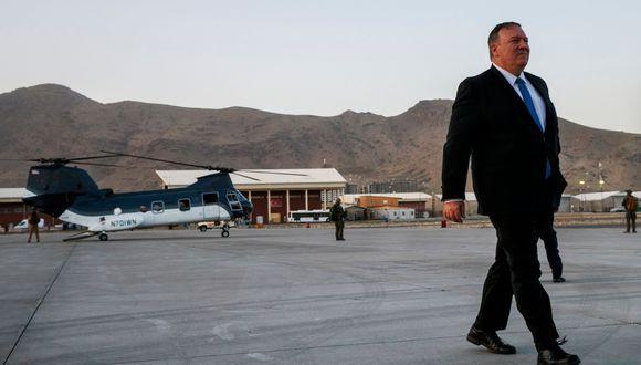 Mike Pompeo llega por sorpresa a Afganistán antes de negociaciones con los talibanes. (AFP).