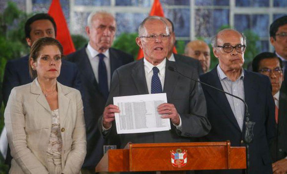 Crisis en el gobierno. Las consecuencias por cuestionados pagos de Odebrecht a empresa del jefe del Estado. (Foto: Sepres)