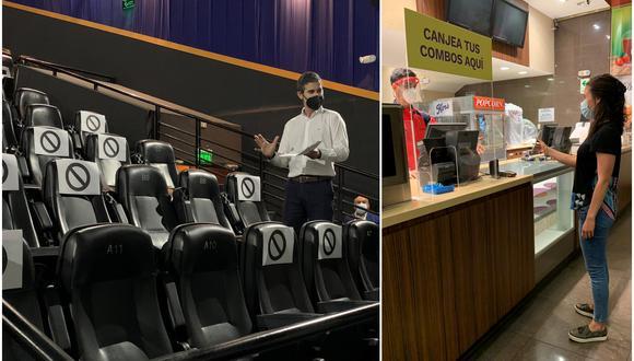 Protocolo de cines no permite el consumo de bebidas y alimentos dentro de las salas. (Foto: Anasaci)