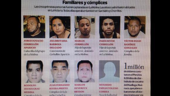 Estos son los rostros del clan de la droga y sus cómplices
