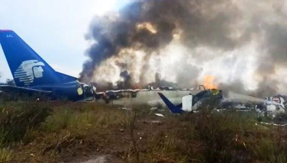 México: Avión de Aeroméxico se estrella en Durango   EN VIVO (Foto: Captura)