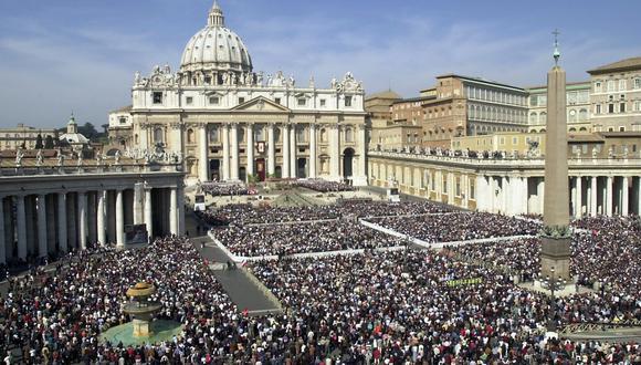 Vista de la plaza de San Pedro en el Vaticano. AP