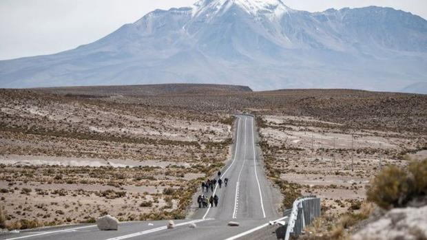 Many migrants enter Chile irregularly through the small town of Colchane, a few kilometers from the border with Bolivia.  (Photo: Getty Images)