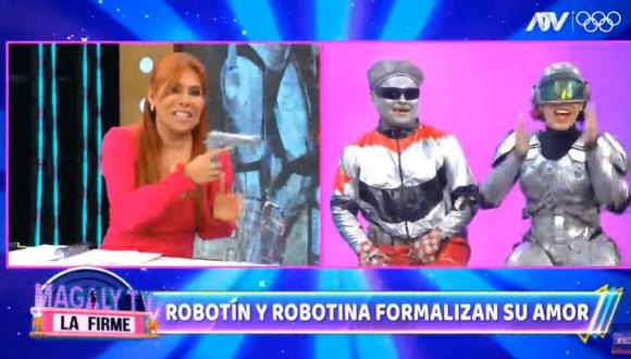 "Magaly Medina le advierte a 'Robotina': ""Pobre que le rompas el corazón a 'Robotín'"". (Foto: Captura)"