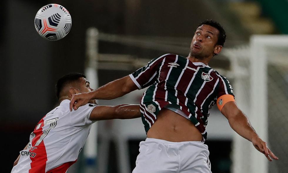 A los 65', Fluminense igualó a River con gol de Fred.