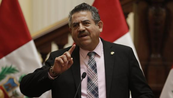 Manuel Merino se refirió a las protestas y movilizaciones en todo el país tras su juramentación como presidente. (Foto: Renzo Salazar/GEC)
