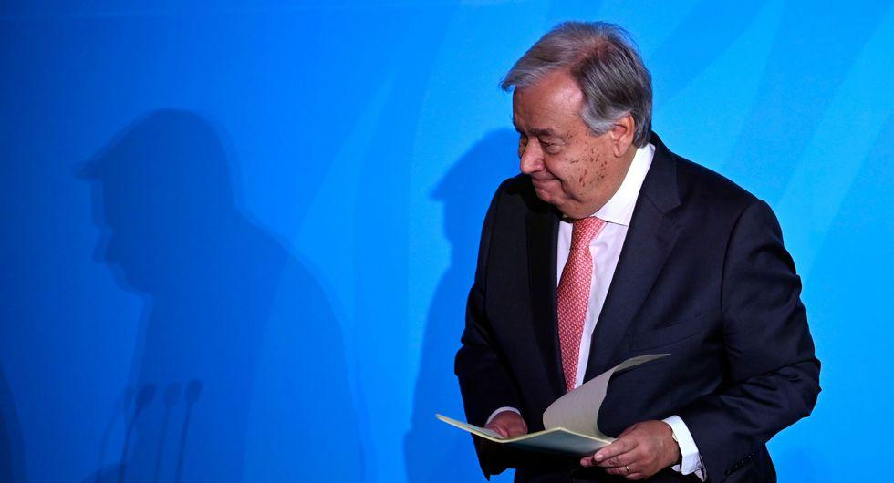 """""""Nos estamos quedando sin tiempo"""", dice António Guterres en la Cumbre del Clima de la ONU. (AFP)."""