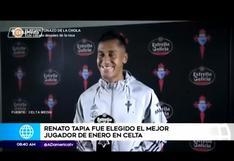 Renato Tapia es elegido como el mejor jugador de enero en Celta