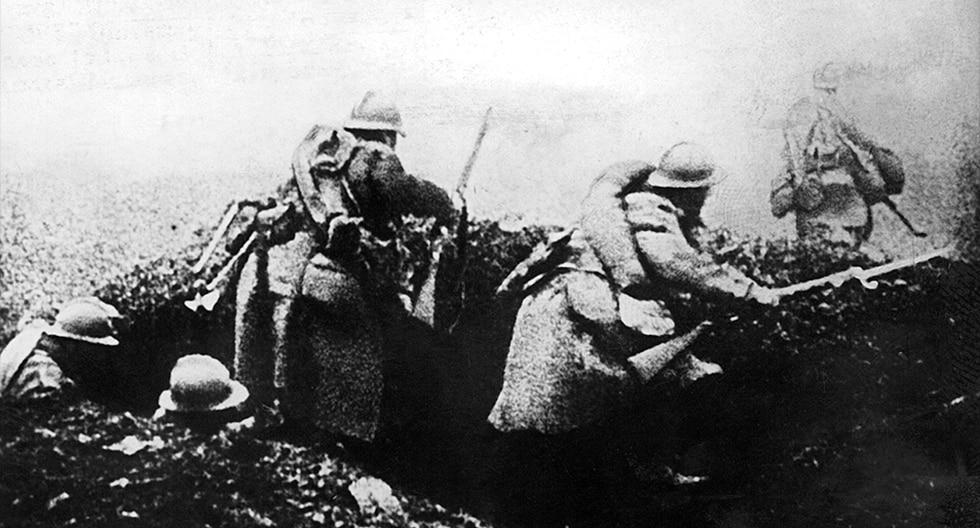 El infierno en las trincheras de la Primera Guerra Mundial. (AFP)