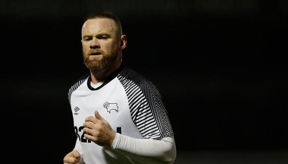 Wayne Rooney vistiendo la camiseta de su actual equipo, Derby County FC, de la segunda división inglesa. (Foto: AFP)