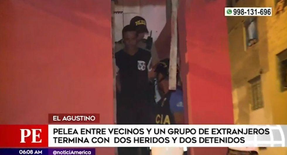 Enfrentamiento se originó esta madrugada en la 7ma zona de El Agustino. (Foto captura: América Noticias)