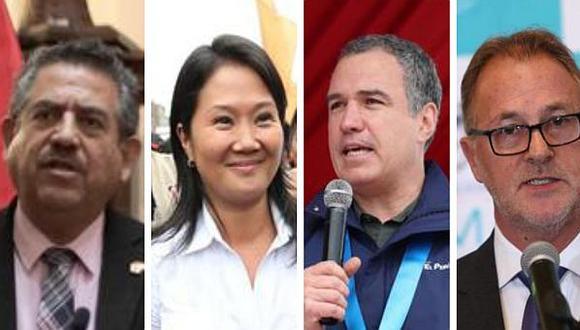 Manuel Merino, Keiko Fujimori, Salvador del Solar y Jorge Muñoz fueron algunos de los integrantes del escenario político que brindaron sus pareceres esta semana. (Foto: GEC)