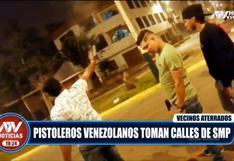 Policía continúa en la búsqueda de sujetos que realizaron disparos al aire en San Martín de Porres