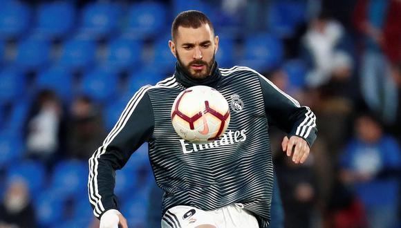 Karim Benzema tiene opciones de reaparecer con el Real Madrid ante Real Sociedad este domingo. (Foto: Reuters)