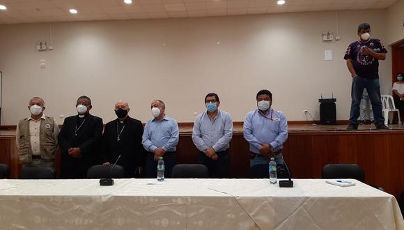 Ica: inició mesa de diálogo presidida por dos ministros en quinto día de protesta (Foto: Carmen Quispe)