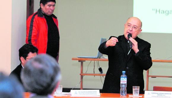 Junín: el cardenal Pedro Barreto pidió a la población ser responsables y cumplir con las medidas de bioseguridad para reducir la propagación del coronavirus. (Foto: GEC)