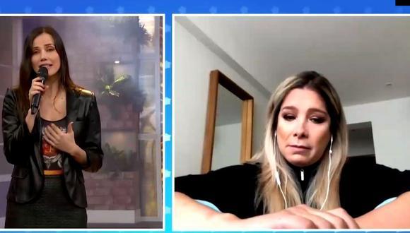 Sofía Franco se quiebra al hablar de la delicada salud de su suegro (Foto: captura)