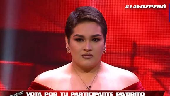 """Joaquina Carruitero finalizó su participación en """"La Voz Perú"""" este martes. (Foto: Captura Latina)."""