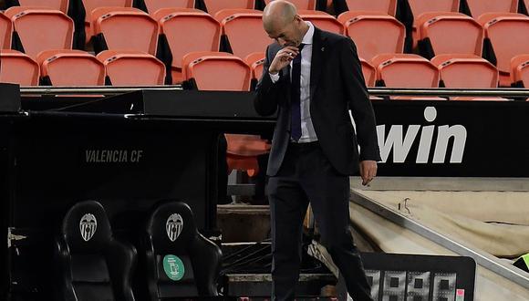 Zinedine Zidane aseguró que no dejará el Real Madrid pese a crisis. (Foto: AFP)