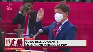 Guido Bellido juramenta como nuevo presidente del Consejo de Ministros