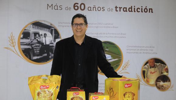 """""""El 90% está vendido"""", dice Figueroa sobre los panetones que prevén colocar esta campaña navideña en el canal moderno. (Foto: Jessica Vicente)"""