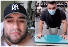 Pesaba 180 kilos y tras sobrevivir al COVID-19 prometió que ayudaría a otros a tener una vida sana