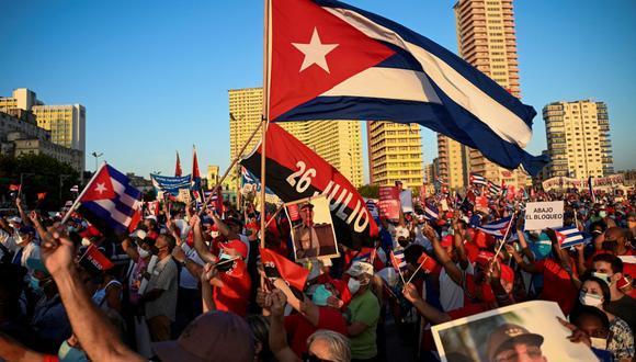 """""""Los cubanos hemos probado la libertad y no hay vuelta atrás"""" (Foto: Yamil Lage / AFP)."""